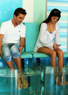 Kendall and Lord Disick getting their fish pedicures