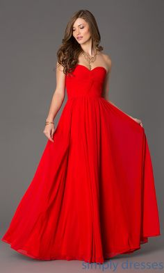 FAVORITE Dress, Floor Length Strapless Sweetheart Dress - Simply Dresses