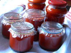 Sarokkonyha: Paprika krém Pickling Cucumbers, Ketchup, Pickles, Salsa, Mason Jars, Food And Drink, Dishes, Canning, Minden