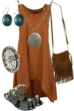 love the boho look...more or less my style...I like this look alot -comfy + fashion = I'm in!