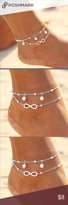 ➰ .INFINITE LOVE FASHION ANKLET. ➰ ▪️SILVER PLATED ANKLET▪️PERFECT FOR SUMMERY BEACH DAYS OR CASUAL DRESSES▪️ Jewelry