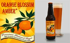 """INDIAN WELLS BREWING:: Orange Blossom Amber """"Our salute to Belgian style fruit Lambic beers, with a distinctly Californian twist. We add select parts of whole oranges to our amber recipe beer and the result is this magical, orange sweet beer. This brew is crafted with only natural ingredients, including malted barley, our proprietary yeast strain and pure spring water from our spring."""" Huffingtonpost.com   A { 5-star } favorite of TheWanderingHousewife.com"""