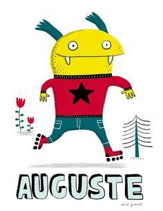Illustration Elise Gravel Cute Monster Illustration, Children's Book Illustration, Illustrations, Monster Co, Robot Monster, Cute Monsters, Monsters Inc, Elise Gravel, King Louie