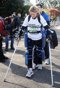 After over two weeks, inspiring paralyzed woman completes London Marathon wearing bionic suit!