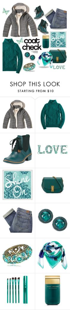 """""""Puffer Coat."""" by tjclay3 ❤ liked on Polyvore featuring Hollister Co., J.Crew, Bernardo, Green Leaf Art, Marc Jacobs, Paige Denim, Kate Spade, Siladora, polyvoreeditorial and puffers"""