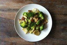 Power plate: zoete aardappelschotel met broccoli en pecannoten