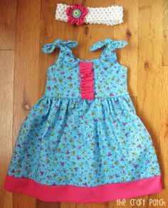Baby Dress and Matching Flower Hair Bow