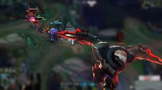 League of Legends-Zorro Plata-Zed and Jax playing Leap Frog.
