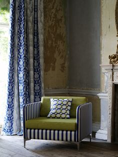 @clarkeandclarke Camelia fabric from the Traviata range - available from Rodgers of York #fabric #curtains #interiors