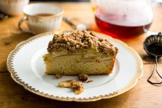 When it comes to crumb cake, the cake itself is often an after thought, with all the attention going to the moist brown-sugar crumbles on top. Not so here. This recipe, based on a sour cream pound cake, has a velvety texture and buttery flavor that's good enough to stand on its own. Of course, the thick pile of large crumbs only sweetens the deal, as does the juicy layer of honey and lemon-spiked pears in between the cake and crumbs. (Photo: Andrew Scrivani for The New York Times)