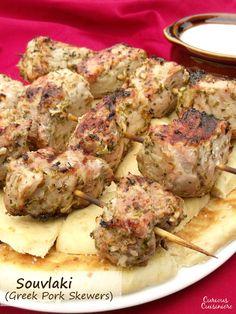 Grilled Pork Souvlaki
