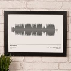 Perfect for a music fan, our stylish soundwave print can be personalised with an artist, song name, date, soundwave colour and a message. Shop now!