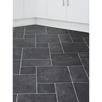 Slate Effect Cushioned Vinyl Flooring-- Kitchen? Too dark? Faux wood would look weird because of real wood, so faux tile?