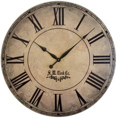 36 in Grand Gallery Extra Large Wall Clock  Antique by Klocktime