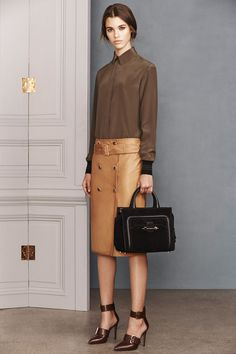What a wild combination of similarly temperatured browns and nudes! All different, all friendly, all Jason Wu and perfect apart or paired together. The mannequins themselves will watch you walk by.   Jason Wu   Pre-Fall 2014 Collection   Style.com