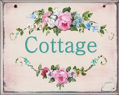 Ready to Frame Print  - Cottage sign - Postage is included Worldwide