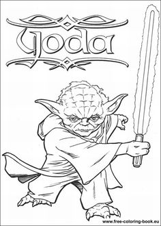 Master Yoda Coloring Page This Is Available For Free In STAR WARS Pages You Can Print It Out Or Color Online With A
