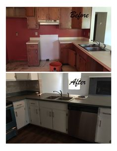 White paint and gray counter tops- Stainless Steel House in Ohio