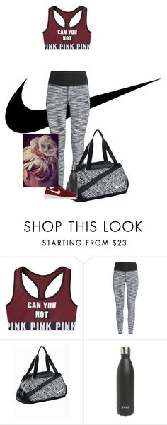 """""""Nike"""" by katiecutie31 on Polyvore featuring NIKE, S'well, women's clothing, women, female, woman, misses and juniors"""