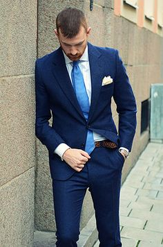 Latest Coat Pant Designs Navy Blue Formal Custom Wedding Suits For Men Slim Fit Bridegroom Beach 2 Pieces Terno Jacket+Pants 708 Mens Fashion Suits, Mens Suits, Fashion Outfits, Men's Fashion, Groom Suits, Groom Attire, Sharp Dressed Man, Well Dressed Men, Mode Man
