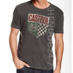 Lucky Brand  Men/'s 3XLT NWT$49 Kelly Green Retro Castrol Motor Oil Cotton Tee