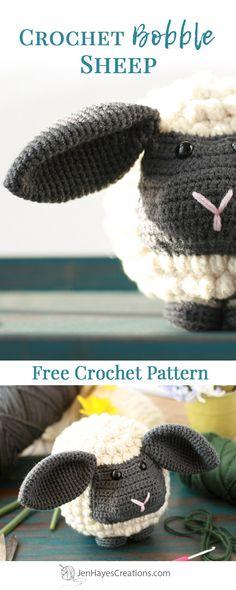 Crochet Bobble Sheep | A Free Crochet Pattern by Jen Hayes Creations