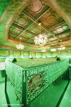 Inside the tomb of Imam Hussein. I love you we will never forget