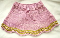 Caiden's skirt by Yumiko Sakurai. malabrigo Worsted, Orchid and lettuce colorway.