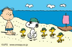 Linus, Snoops, Woody and Friends on the Beach as Pirates
