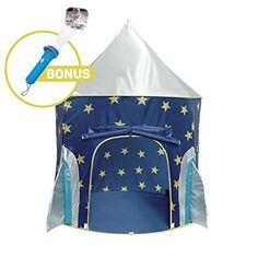 Rocket Ship Play Tent  Spaceship Playhouse with Bonus Space Torch Projector Toy -- You can find out more details at the link of the image.