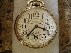 Railroad Waltham Vanguard with Montgomery dial, 23 jewels
