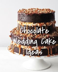 29 Chocolate Wedding Cake Ideas That Will Blow Your Guests' Minds | Martha Stewart Weddings - Who says wedding cake must be vanilla? With so many chocolate cake recipes ranging from dark to white, there are mounds of melt-in-your-mouth possibilities for serving the decadent dessert flavor on your big day. Here, our favorite recipes starring cocoa—whether in the batter or the frosting. Pass them to your baker or make them yourself for your pre-wedding events!