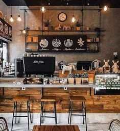Coffee Shop Interior Design, Coffee Shop Design, Restaurant Interior Design, Cafe Design, Coffee Cafe Interior, Coffee Shop Interiors, Pastry Shop Interior, Brewery Interior, Small Restaurant Design