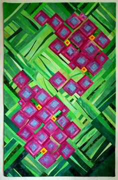 Art quilt abstract quilt wall hanging wall decor by marytequilts