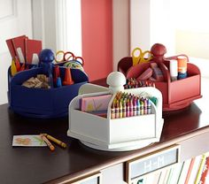 Shop lazy susan from Pottery Barn Kids. Find expertly crafted kids and baby furniture, decor and accessories, including a variety of lazy susan. Pottery Barn Kids, Kits For Kids, Crafts For Kids, Children Crafts, Modern Kids Decor, Ideas Para Organizar, Craft Storage, Playroom Storage, Marker Storage