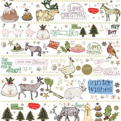 christmas wrapping paper - Love that it has christmas puds