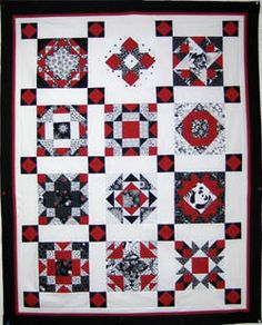 Black & Red Quilt -- maybe LBD2 and lime