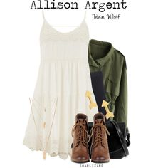 Allison Argent by charlizard on Polyvore featuring maurices, Chicwish, Madewell, Gorjana, Forever 21, TeenWolf, allisonargent, tw and tvlooks