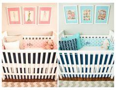 Vintage Modern Twin Nursery - #projectnursery