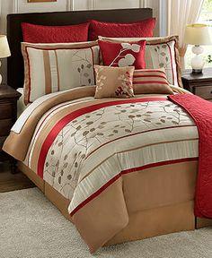 Allure 22 Piece Queen Comforter Set - Bed in a Bag - Bed & Bath - Macy's