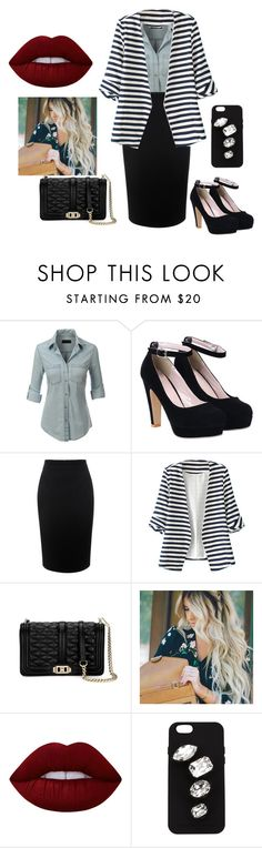 """""""Sin título #87"""" by katherine-molinabts on Polyvore featuring moda, LE3NO, Alexander McQueen, WithChic, Rebecca Minkoff, Lime Crime y STELLA McCARTNEY"""