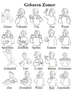 Gebarentaal zomer Kids Reading Books, Reading Groups, Girl Reading, Sign Language Phrases, Baby Sign Language, Teaching Kids, Kids Learning, Deaf Sign, Little Girl Drawing