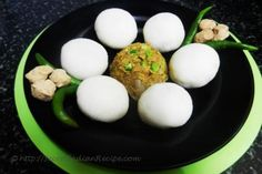 KHARA MANDA By Shibani Satapathy  Manda is a traditional Odia sweet dish. This is a savory variation of the same. A manda is a steamed rice-flour dumpling stuffed with grated coconut or boiled moong dal, jaggery and green cardamom. Usually children don't enjoy eating homemade sweets. By giving traditional sweets a savory twist one can create something that is tasty and healthy.  http://secretindianrecipe.com/recipe/khara-manda-semolina-dumplings-soya-stuffing