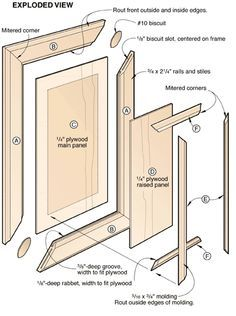 Learn a new way to make beautiful raised panel doors. We& show you the best tips, techniques, and tools to make doors quickly and easily without expensive panel-raising bits. Raised Panel Cabinet Doors, Diy Cabinet Doors, Diy Cabinets, Homemade Cabinets, Cupboard Doors, Woodworking Techniques, Woodworking Jigs, Woodworking Projects, Carpentry