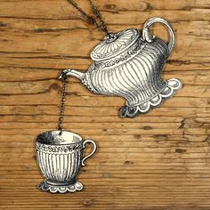 Teapot/Teacup Necklace by mamaslittlebabies on Etsy, $35.00