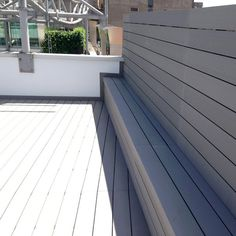 Light Gray WPC flooring, with anti-moth and no cracking function #wpc #wpcdeck #deck #decking #outdoordecking #floor #outdoorflooring