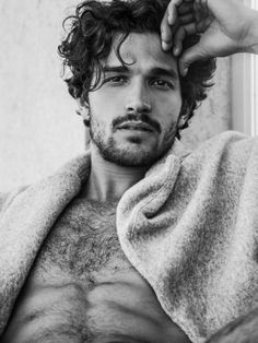Elite Barcelona model Paul Kelly sits for new portraits by photographer Alejandro Brito. Showing off a modern edge in shirtless photos that feature his tattoos… Hot Men, Sexy Men, Hot Guys, Sweet Guys, Hairy Men, Bearded Men, Paul Kelly, Hommes Sexy, Face Men