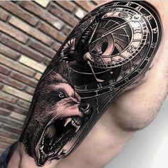 Forearm Band Tattoos, Upper Arm Tattoos, Body Art Tattoos, Hand Tattoos, Lion Tattoo Sleeves, Cool Half Sleeve Tattoos, Piercings, Celtic Tribal Tattoos, Heaven Tattoos