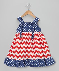 Red & Blue Patriotic Tie-Strap Dress - Infant, Toddler & Girls   Daily deals for moms, babies and kids