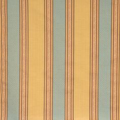 Vervain Bergere-Striped Verdigris by Charles Faudree 576702 -